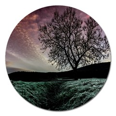 Sky Landscape Nature Clouds Magnet 5  (round) by Simbadda