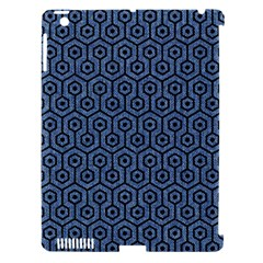 Hexagon1 Black Marble & Blue Denim (r) Apple Ipad 3/4 Hardshell Case (compatible With Smart Cover) by trendistuff