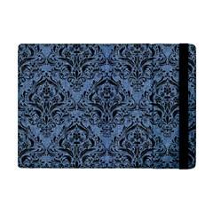 Damask1 Black Marble & Blue Denim (r) Apple Ipad Mini Flip Case by trendistuff