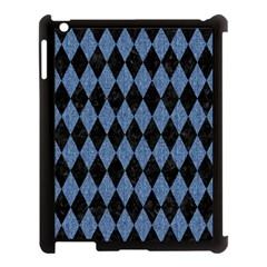 Diamond1 Black Marble & Blue Denim Apple Ipad 3/4 Case (black) by trendistuff