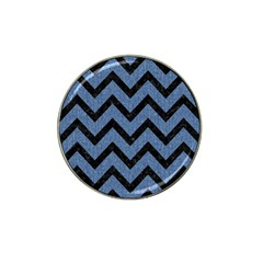 Chevron9 Black Marble & Blue Denim (r) Hat Clip Ball Marker (10 Pack) by trendistuff