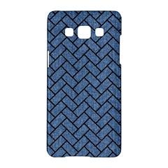 Brick2 Black Marble & Blue Denim (r) Samsung Galaxy A5 Hardshell Case  by trendistuff