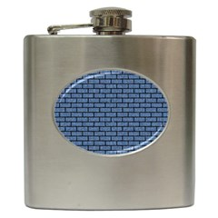Brick1 Black Marble & Blue Denim (r) Hip Flask (6 Oz) by trendistuff