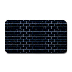 Brick1 Black Marble & Blue Denim Medium Bar Mat by trendistuff