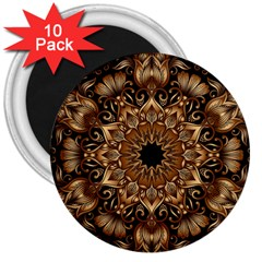 3d Fractal Art 3  Magnets (10 Pack)  by Simbadda