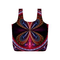 3d Abstract Ring Full Print Recycle Bags (s)  by Simbadda