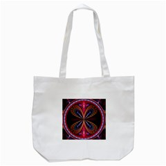3d Abstract Ring Tote Bag (white) by Simbadda