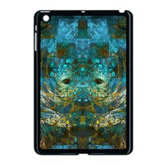 Blue Gold Modern Abstract Geometric Apple Ipad Mini Case (black) by CrypticFragmentsColors