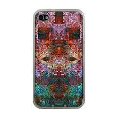 Modern Abstract Geometric Art Rainbow Colors Apple Iphone 4 Case (clear) by CrypticFragmentsColors