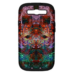 Modern Abstract Geometric Art Rainbow Colors Samsung Galaxy S Iii Hardshell Case (pc+silicone) by CrypticFragmentsColors
