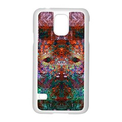 Modern Abstract Geometric Art Rainbow Colors Samsung Galaxy S5 Case (white) by CrypticFragmentsColors