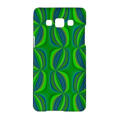 Blue Green Ethnic Print Pattern Samsung Galaxy A5 Hardshell Case  by CrypticFragmentsColors