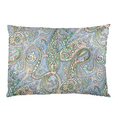 Paisley Boho Hippie Retro Fashion Print Pattern  Pillow Case by CrypticFragmentsColors