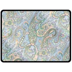Paisley Boho Hippie Retro Fashion Print Pattern  Fleece Blanket (large)  by CrypticFragmentsColors