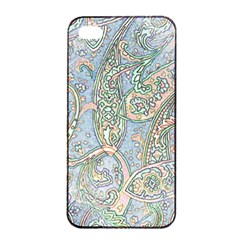 Paisley Boho Hippie Retro Fashion Print Pattern  Apple Iphone 4/4s Seamless Case (black) by CrypticFragmentsColors
