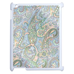 Paisley Boho Hippie Retro Fashion Print Pattern  Apple Ipad 2 Case (white) by CrypticFragmentsColors