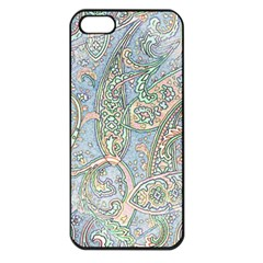 Paisley Boho Hippie Retro Fashion Print Pattern  Apple Iphone 5 Seamless Case (black) by CrypticFragmentsColors
