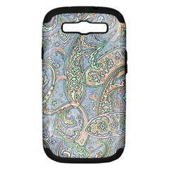 Paisley Boho Hippie Retro Fashion Print Pattern  Samsung Galaxy S Iii Hardshell Case (pc+silicone) by CrypticFragmentsColors