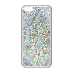 Paisley Boho Hippie Retro Fashion Print Pattern  Apple Iphone 5c Seamless Case (white) by CrypticFragmentsColors