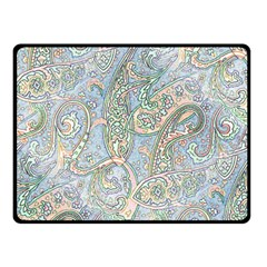 Paisley Boho Hippie Retro Fashion Print Pattern  Double Sided Fleece Blanket (small)  by CrypticFragmentsColors
