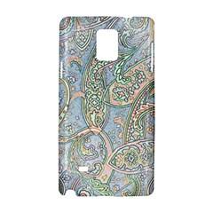 Paisley Boho Hippie Retro Fashion Print Pattern  Samsung Galaxy Note 4 Hardshell Case by CrypticFragmentsColors