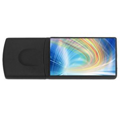 Glow Motion Lines Light Usb Flash Drive Rectangular (4 Gb) by Alisyart