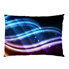 Illustrations Color Purple Blue Circle Space Pillow Case by Alisyart