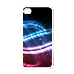 Illustrations Color Purple Blue Circle Space Apple Iphone 4 Case (white) by Alisyart