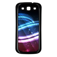 Illustrations Color Purple Blue Circle Space Samsung Galaxy S3 Back Case (Black) by Alisyart