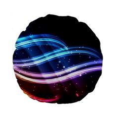 Illustrations Color Purple Blue Circle Space Standard 15  Premium Flano Round Cushions