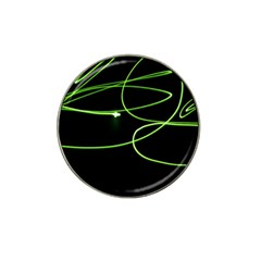 Light Line Green Black Hat Clip Ball Marker by Alisyart