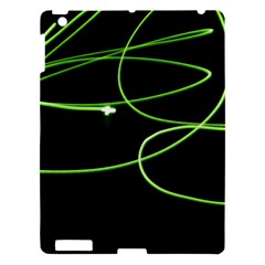 Light Line Green Black Apple Ipad 3/4 Hardshell Case by Alisyart