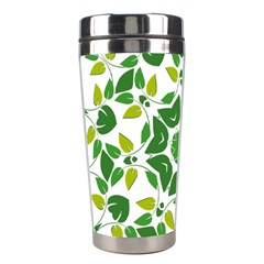 Leaf Green Frame Star Stainless Steel Travel Tumblers by Alisyart