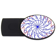 Line  Red Blue Circle Usb Flash Drive Oval (4 Gb) by Alisyart