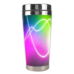 Lines Wavy Ight Color Rainbow Colorful Stainless Steel Travel Tumblers by Alisyart