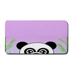 Panda Happy Birthday Pink Face Smile Animals Flower Purple Green Medium Bar Mats by Alisyart
