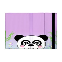 Panda Happy Birthday Pink Face Smile Animals Flower Purple Green Apple Ipad Mini Flip Case by Alisyart