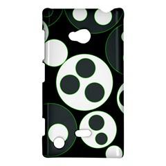 Origami Leaf Sea Dragon Circle Line Green Grey Black Nokia Lumia 720 by Alisyart