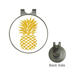 Pineapple Glitter Gold Yellow Fruit Hat Clips With Golf Markers by Alisyart