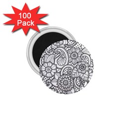 These Flowers Need Colour! 1 75  Magnets (100 Pack)  by Simbadda