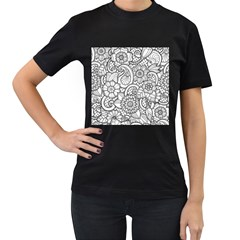 These Flowers Need Colour! Women s T Shirt (black) by Simbadda