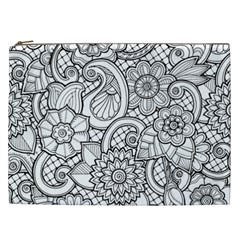 These Flowers Need Colour! Cosmetic Bag (xxl)  by Simbadda