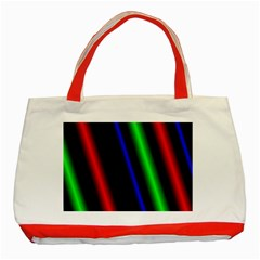 Multi Color Neon Background Classic Tote Bag (Red)