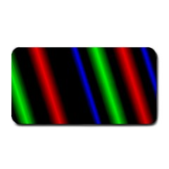 Multi Color Neon Background Medium Bar Mats by Simbadda
