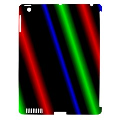 Multi Color Neon Background Apple Ipad 3/4 Hardshell Case (compatible With Smart Cover) by Simbadda