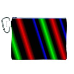 Multi Color Neon Background Canvas Cosmetic Bag (xl) by Simbadda
