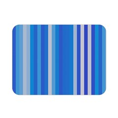 Color Stripes Blue White Pattern Double Sided Flano Blanket (mini)  by Simbadda