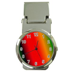Multi Color Pattern Background Money Clip Watches by Simbadda