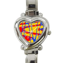 Graphic Design Graphic Design Heart Italian Charm Watch by Simbadda