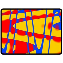 Graphic Design Graphic Design Double Sided Fleece Blanket (large)  by Simbadda